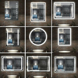 Illuminated Bathroom Led Mirror With Touch Control Sensordemister And Lights