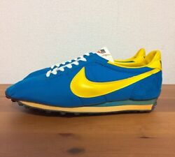 Nike Waffle Trainer Blue X Yellow Menand039s Us9.0 27.0cm 70s Vintage Rare Used