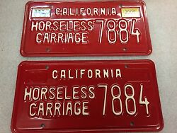 California Horseless Carriage License Plate Set