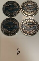 Zenith Wire Wheels Chips Emblems Campbell California Blue 6 Chrome Size 2.25andrdquo