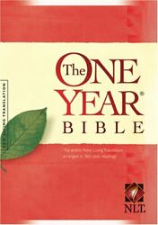 One Year Bible Nlt One Year Bible New Living By Tyndale - Hardcover Brand New