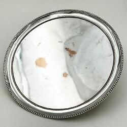 18thc George Iii Old Sheffield Plate Waiter / Card Tray C1780 9 Inches