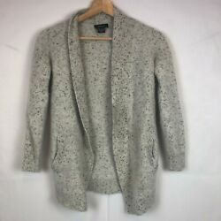Pure Amici Cashmere Cardigan Sweater Size Xs Speckled Gray