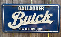 Rare New Britain Gallagher Dealership License Plate Buick Connecticut