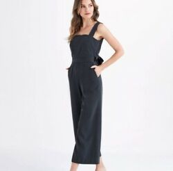 Vetta Apron Jumpsuit Black Size 10 Made In Usa