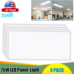 2x4ft Led Flat Panel Troffer Light Fixture 5000k White 24and039and039x48and039and039 Edge-lit Panel