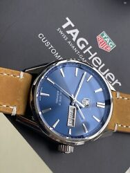 Tag Heuer Carrera Caliber 5 Steel Automatic Blue Dial Day Date Men's 40mm Watch