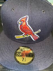 7 1/2 St. Louis Cardinals Navy 2009 All Star Game Pink Bottom Fitted Hat