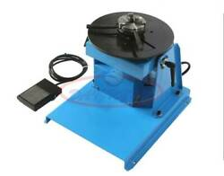 10kg Rotary Welding Positioner 0-90anddeg Weld Turntable Table 65mm 80mm 3 Jaw Chuck