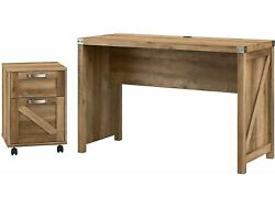 Kathy Ireland Home By Bush Furniture Cottage Grove 48 Writing Desk With Mobile