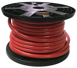 100 Ft Red 4/0 Awg Gauge Bulk Battery Cable Switch Starter And Ground 100 Copper