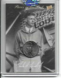 2020 The Bar Pieces Of The Past Charles Lindbergh Card And 2006 Nickel