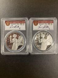 2016 Wands Pcgs Pr70 Silver Medal Set American Libery First Strike,ed Moy Signed