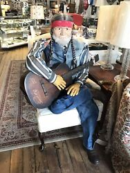 Life Sized Willie Nelson Prop W/ Guitar- Halloween/music/movie/country