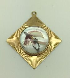 And Co 14k Yellow Gold Fly Fishing Lure Charm / Pendant - Lot 4100r