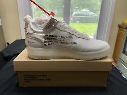 Nike Air Force 1 X Off-white The 10 Mens Size 13