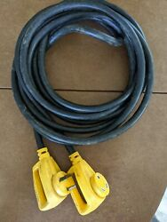 Used Camco 55191 25and039 Powergrip 30-amp Extension Cord For Rv And Auto