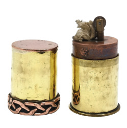 Antique - Trench Art - Petrol - Lighter - Ww1 - Poilus - Military Soldier Bullet