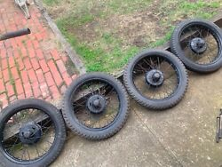 Vintage Austin 7 Seven Set Wheels And Tyres 19andrdquo Scripted X 5