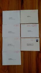 Set Of 7 1993-95 1997-2000 White House Christmas Card Clinton Unopened