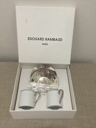 Limoges France Edouard Rambaud Paris Demitasse Espresso Coffee Cups And Saucers