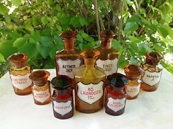 Antique Collection Apothecary Pharmacy Chemist Bottles Jars