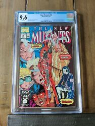 New Mutants 98 Cgc 9.6 🔥white Pages🔥 1st Appearance Of Deadpool 🔥mcu🔥