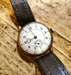 9ct Gold 1938 Assigned British Military Watch Swiss Movement Antique Vintage