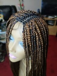 Knotless Braided Wig Box Braids With Baby Hair 25 Straight. Tight And Neat Braid