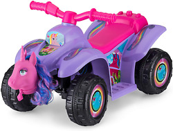 Kid Trax Toddler Unicorn Quad Kids Ride On Toy 6 Volt Battery 1.5-3 Years Old