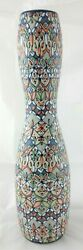 Javier Servin Mexico Art Pottery Tall Colorful Vase