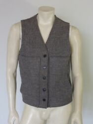 Filson Grey Mackinaw Wool Vest Style 20 Buttons Moved To Left Side Size 40
