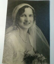 Vintage 1920and039s 30and039s Bride Photo Wedding Flapper Deco Actress B/w 10x7