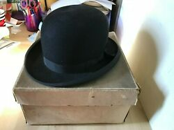 Vintage 1940s English Bowler Hat Dunne And Co Ltd London Display Prop