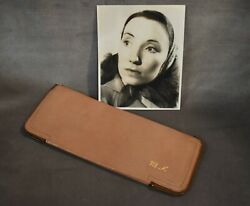 1930's Actress Moselle Kimbler Photo And Personalized Pig Skin Document Case