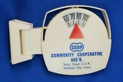 Co-op Webster City Iowa Vintage Advertising Thermometer Community Cooperative Ag