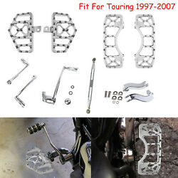 Wide Mx Style Floorboard Shift Lever Linkage Fit For Harley Touring 1997-2007