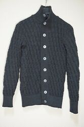 395   S.n.s. Sns Herning Stark Cardigan Sweater Jumper S Small Grey Charcoal