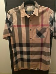 Mens short sleeve Burberry button down Size Small $150.00