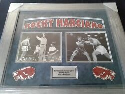 Rocky Marciano Vintage 8 X 10 Hand Signed Fight Image With C.o.a.