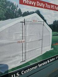 Greenhouse 12 X 30 X 7 Clear Heavy Pe White Transparent Mesh Steel Grow Tent