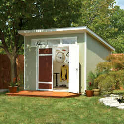 Storage Shed Kit + Floor Kit 10and039 X 7.5and039 Wood Weather Resistant