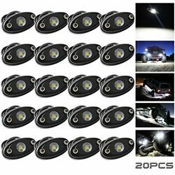 Ledmircy Led Rock Lights White 20pcs Kit For Off Road Truck Rzr Auto Car Boat...