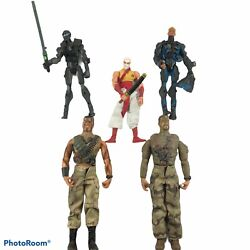 3 Gi Joe And 2 Lanard Toys Action Figure Lot 8 And 12 Inch Figures - 5 Total