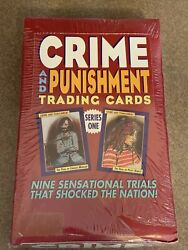 Rare 1992 Crime And Punishment Trading Cards Series 1 Sealed 36 Pack Box Eclipse
