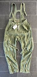 John Galliano Dungarees Military Braces Trousers Jeans 44 Overalls