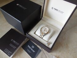 Tag Heuer Carrera War215b-0 18k Gold Stainless Steel 39mm Automatic Menand039s Watch