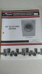 Whirlpool 24 Electric Dryer Service Manual 8178475 Model Lew0050pq