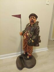 Golf Caddy Statue 3ft - Fiberglass W Putting Hole, Novelty Decor Collectable
