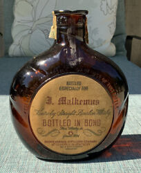 Vintage Personalized Old Forester Bourbon Whiskey Bottle